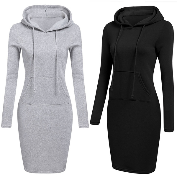 54f874fd893 Fashion Plaid Drawstring Cowl Neck Tunic Sweatshirt Dress Button  Embellished Dress