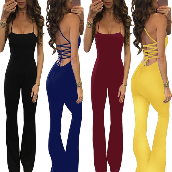 Picture of Women Clubwear Playsuit Casual Short Sleeve Party Jumpsuit Romper Trousers Pants