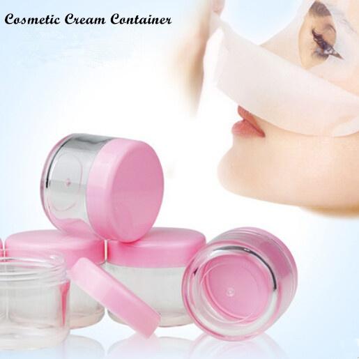 f3f86d9152b3 10 Pink Lid Plastic Empty Makeup Cosmetic Cream Jar Pot Bottle Container