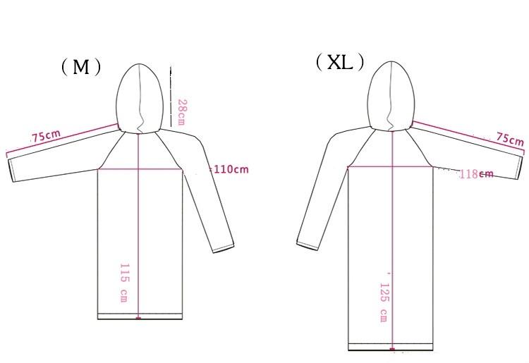damen durchsichtig regenmantel jacke mit kapuze. Black Bedroom Furniture Sets. Home Design Ideas