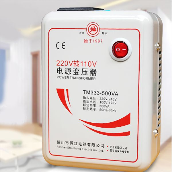 Adapter Step down Voltage Converter 220V to 110v 500W Transformer Converts  50-60Hz Electronic Travel