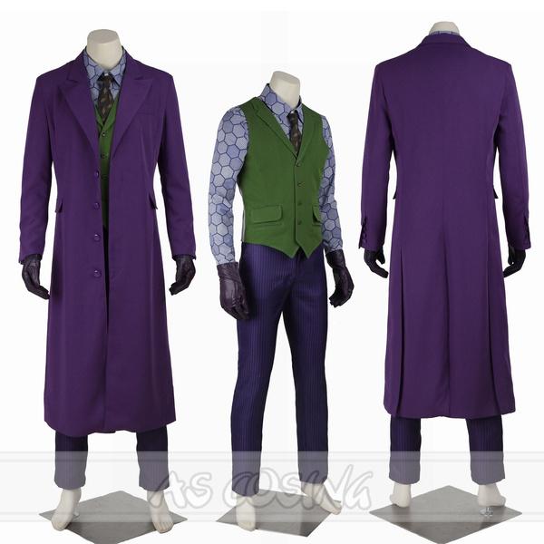 Batman The Dark Knight Joker Heath Ledger Cosplay Costume Halloween Costume