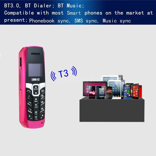 best Smartphones High Capacity Battery Longest Talking Call And Standby  Time LONG-CZ T3 2G GSM Mini Phone 500mAh 500 Contacts Store Support BT3 0  BT