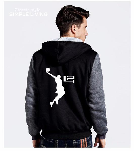 9337c732 Wish | qt 2017 Cool Man Hoodie LeBron James Boy Jacket Men Long  SleeveThicken Fleece Zipper Tops Male Hot Sale USA EU size Plus size
