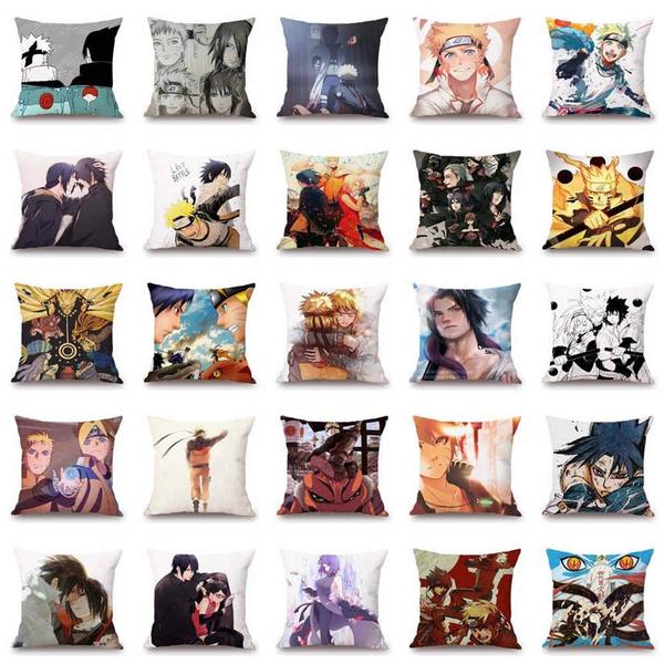 Pleasing 18 Naruto Anime Pillowcase Polyester Elegant Throw Pillow Cases Car Sofa Office Cushion Cover Machost Co Dining Chair Design Ideas Machostcouk