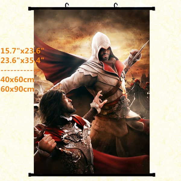 Dyl Assassin S Creed Brotherhood Art Scroll Poster Assassin S Creed Ezio Auditore Poster For Game Room Decoration Fashion Game Poster