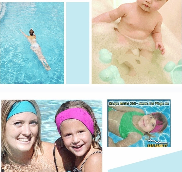 Wish Women Men Kids Bathing Swimming Ear Band Hair Headband Protector Watersport Neoprene Wetsuit Sport Swim Head