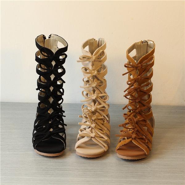 45ecb6e6c28 Tipo de sandalia: Gladiador Material de Suela: Caucho Estilo de cuero:  cuero nubuck. Tipo de cierre: Zip Material superior: cuero genuino. Género:  Niñas