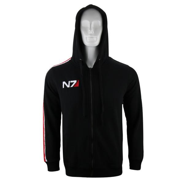 New Mass effect John·Shepard N7 Cosplay black Jacket Costume Coat Hoodie Unisex