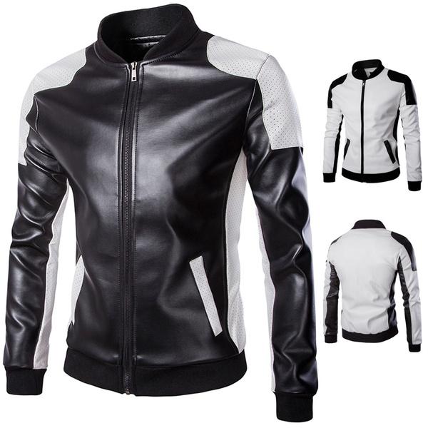 Stand Collar, waterproofjacket, menspuleatherjacket, men leather jackets