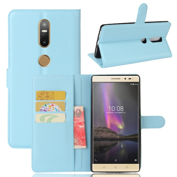 Wish | Women's and Men's Luxury Fashion Phone Case for Lenovo Phab 2 Plus, Premium PU Leather Magnet Wallet Flip Case Cover with Built-in Credit Card/ID ...