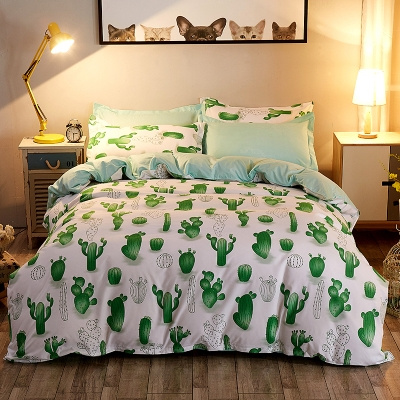 Cactus Green Bed Pillowcases Duvet Cover Set Quilt Cover Set Twin