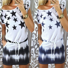 Summer, Club Dress, elastic waist, Waist