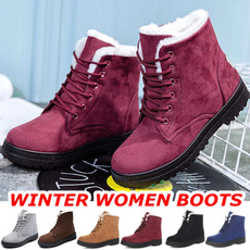 casual shoes, ankleampshortboot, Plus Size, fur