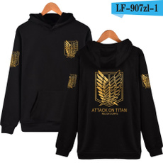 skateboardstyle, Slim Fit, attackontitanhoodie, Necks