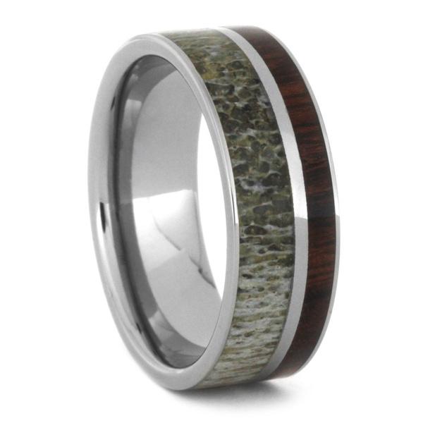 Wish Unique Deer Antler Wedding Ring Set Women S Cubic Zirconia