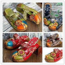 womenleathershoe, Sandals, Platform Shoes, Colorful