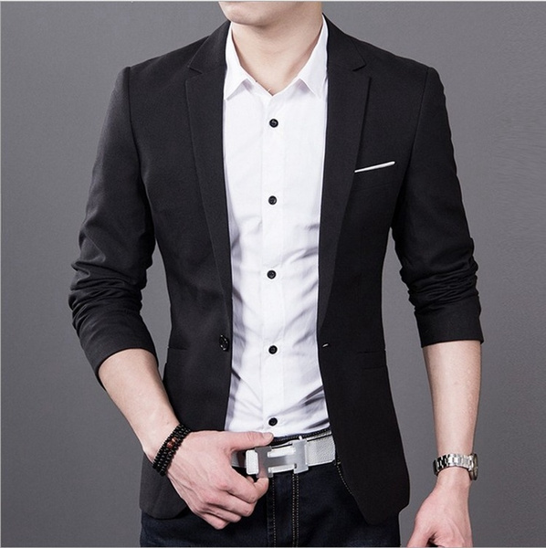 107c1170888ce3 Wish | Business Youth New Brand Spring Masculine Blazer Men Fashion Slim  Fit Suit Men Casual Solid Color Suit Blazers Male Clothing