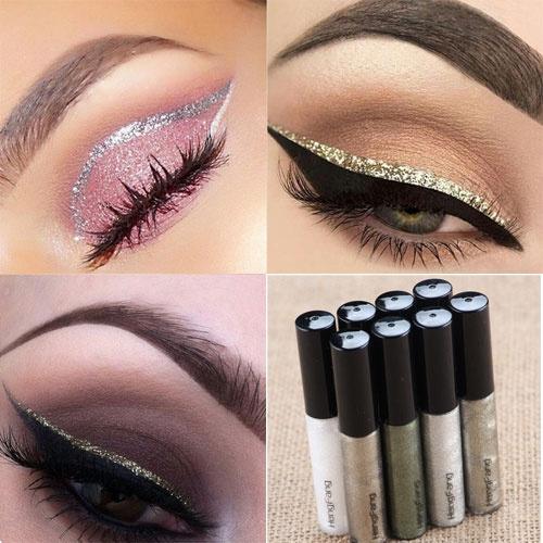 Picture of Liquid Glitter Eyeliner Eyeshadow Shiny Waterproof Long Lasting Eye Makeup Fashion Cosmetic
