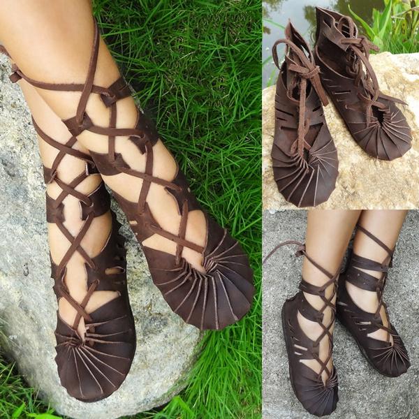 De Mujer 2017 Casual Para Hombre Hippie Sandalias Moda Nueva Zapatos Marrón Cuero hdstrCQ