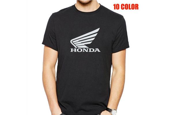 Men's T-shirt Spring and Summer Letter HONDA Cotton Men's Short Sleeved T-shirt Casual Men Tops