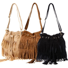 Shoulder Bags, Fashion, fringebag, solidbag