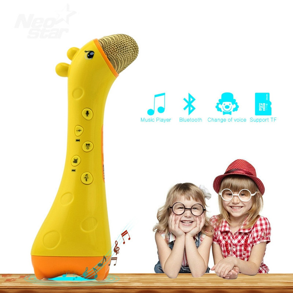 Bluetooth Voice Changer Microphone Speaker Music Support TF Card Karaoke  Singing KTV Funny Toy Gift Kids Birthday