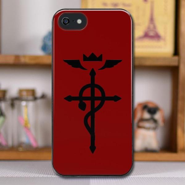 Fullmetal Alchemist - Flamel Insignia (Black) Hard Case for iPhone 4 4S 5  5S 5C 6 6S 7 Plus/Samsung Cover samsung Galaxy s9/s9+/S10/S10+iphone  XS/XR/X