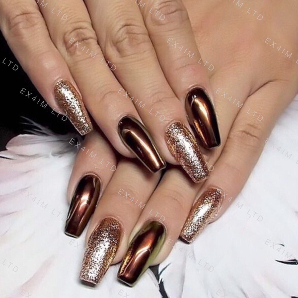 Wish Copper Nails Powder Bronze Mirror Chrome Effect Pigment Nail Art