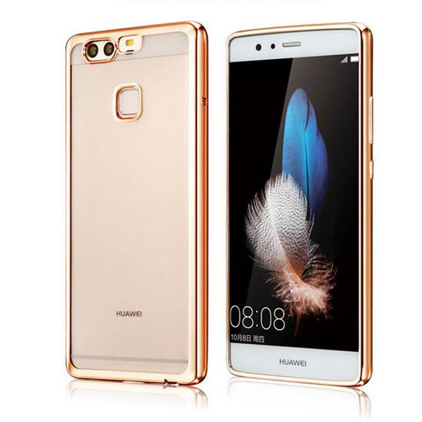 brand new d9b52 74007 For Huawei P10 Lite / P10 Case P10 Plus Plating Bumper Soft TPU Scratch  Proof Phone Case For Huawei P9 Lite
