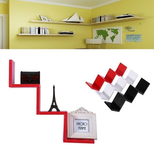 3 Farben Modern Creative Schwimmende Wand Regal Rack Veranstalter Hängende Bücherregal