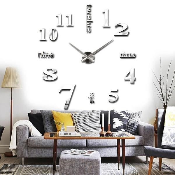 Wish | Wand Uhr Wohnzimmer Wanduhr Spiegel Wandtattoo Deko XXL 3D Café  Konferenzraum