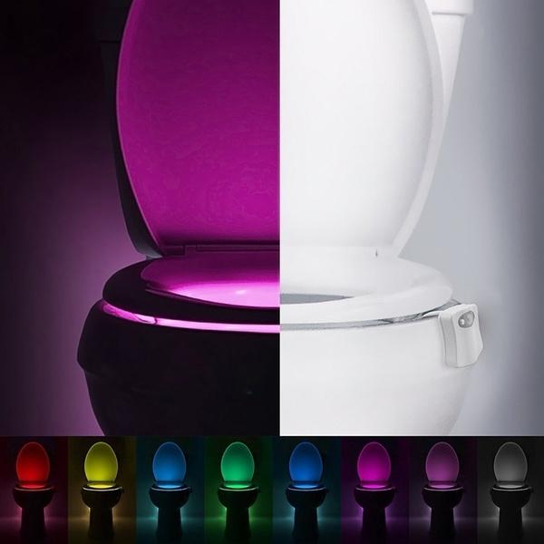 Wish 8 colors human motion sensor toilet night light bowl wish 8 colors human motion sensor toilet night light bowl bathroom light mozeypictures Images