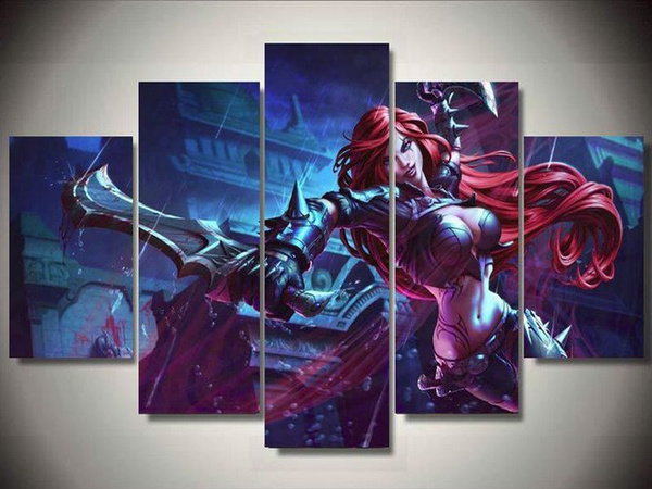 Wish | Without Framed 5 Pcs Large HD Print Oil Painting On Canvas ...