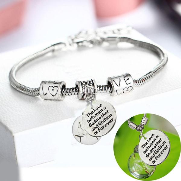 Charm Bracelet, godson, foreverlove, motherbracelet