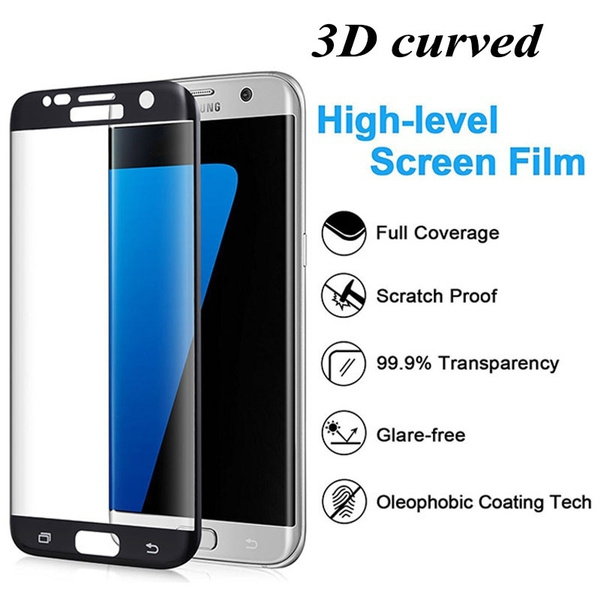 Tempered 3D Glass Curve Full Cover Shield Protection for Samsung Galaxy  S6/S7/S8 Edge Transparent