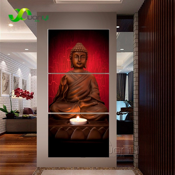 Art Image Bouddha Huile Effet Peinture Mur Art Peintures Image Paiting Toile Peintures D Coration Cuadros Decoracion Encadr E