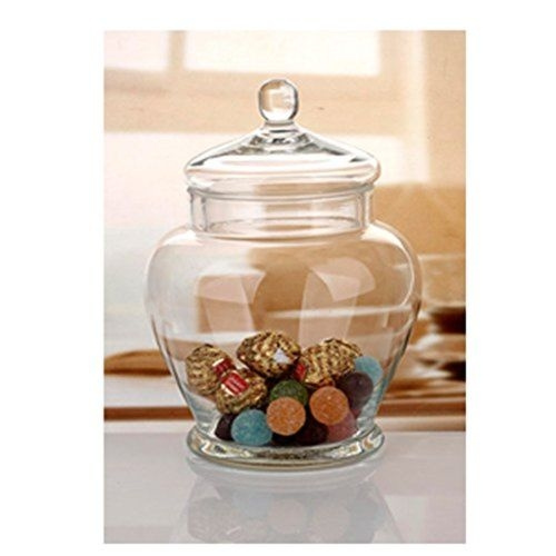Wish Elegant Clear Gl Apothecary Jar With Lid 11 Inch High Canister Deco