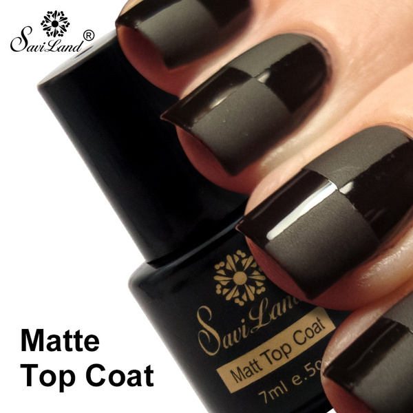 Saviland Matte Top Coat Nail Art Gel Polish Soak Off Long Lasting 7ml Led Uv Matte Gel Nails Polish Varnish