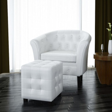 leather, armchair, white, Modern