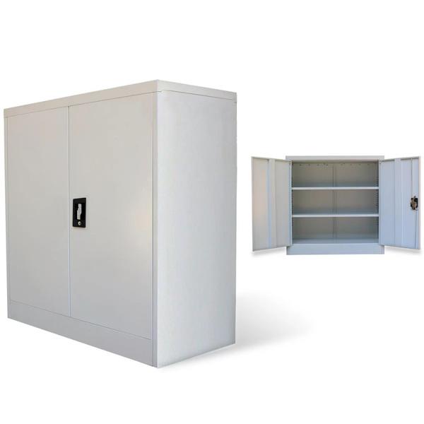 Vidaxl Office Cabinet With 2 Doors Gray