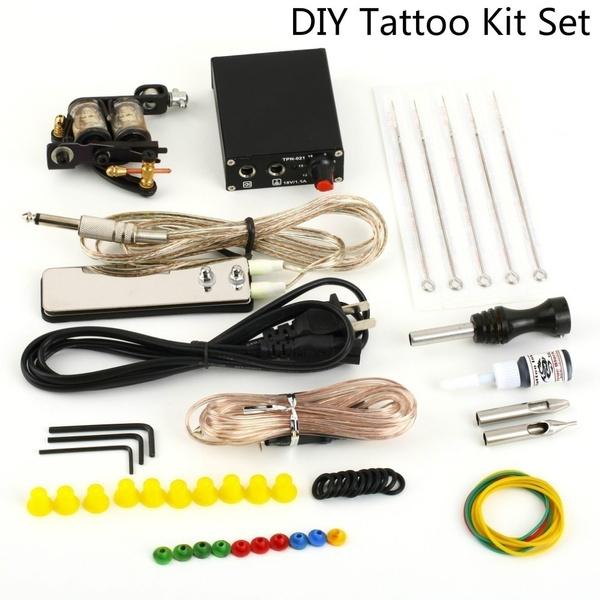 Brand New Diy Complete Secant Playing Fog Machine Body Art Kit Set Equipment Machine Power Supply Color Inks