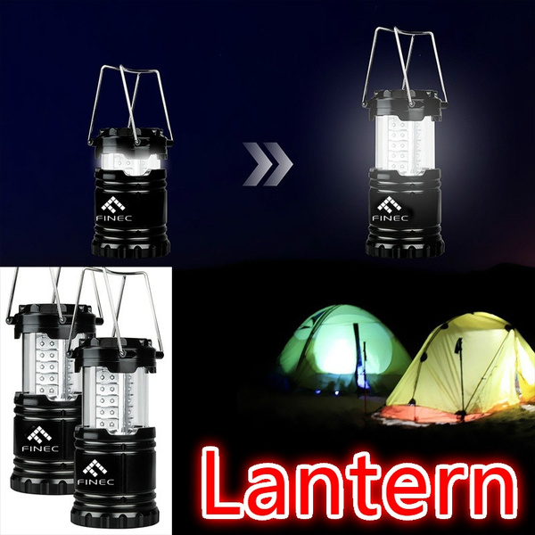 Picture of Etekcity 1 Pack Portable Outdoor Led Camping Lantern Without Batteries Black Collapsible Btm