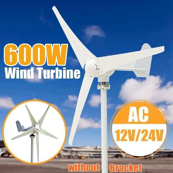 Max600W 12V 24V 3 / 5 Blades Energy Generator Wind Turbine Generator Wind  Turbines (Rated power: 400W) (without Bracket)