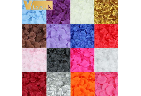 500pcs/lot Artificial Flower Petal DIY Handmade Silk Rose Flower Petals Leaves For Wedding Decorations Party Supplies Engagemen