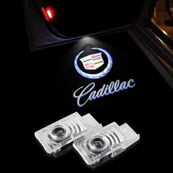 2pcs LED Door Welcome Emblems Light Car Door Logo
