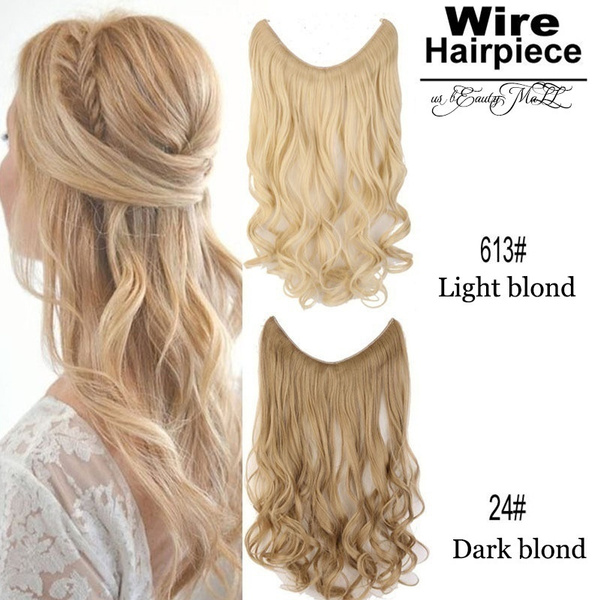 Geek Invisiable Secret Wire No Clip In Hair Extensions Straight