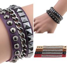 rockrivet, Jewelry, Chain, leather
