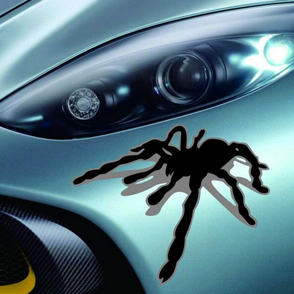 NEW Cool Spider Car Stickers Wraps Scary Black Decals 3D Spider Stickers  All Car Types Generic Vinyl Art 25*21cm