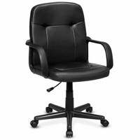 Ergonomic Pu Leather Midback Executive Computer Best Desk